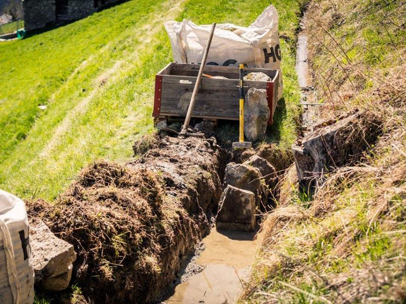 Tretschbord / Instandstellung Wässerwasserleitungen