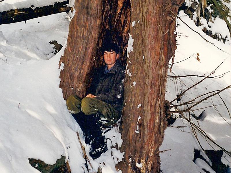 Revierförster Christian Theler nimmt am 1. Februar 1990 seine Arbeit auf.